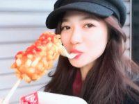 【寺田蘭世】#蘭世ファンの皆さんへ #チーズドック ? #チーズドッグ ? #どっちかわからない #寺田蘭世 #綺麗なお顔 #カワイイ #チーズがなかなか切れないらしい #完食 #新年デート